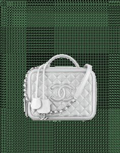Chanel Silver Vanity Case Bag