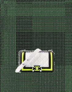 Chanel White/Black/Yellow Boy Chanel Fluo Small Flap Bag