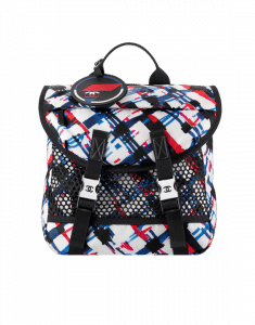 0dec136838e781 Chanel White/Blue/Red/Black Printed Nylon and Mesh Backpack Bag ...