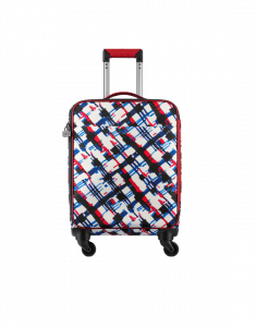 Chanel White/Blue/Red/Black Printed Toile Coco Case Trolley Bag