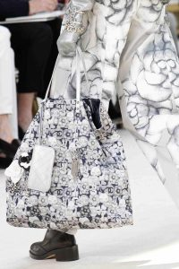 Chanel White/Grey Floral Tote Bag - Fall 2016