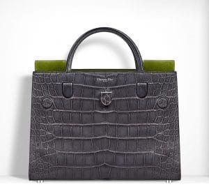Dior Anthracite Grey Alligator Diorever Bag