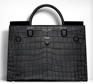 Dior Black Saltwater Crocodile Diorever Large Bag
