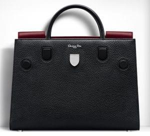 Dior Black/Burgundy Diorever Large Bag