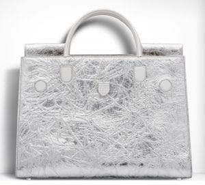 Dior Crinkled Metallic Diorever Large Bag