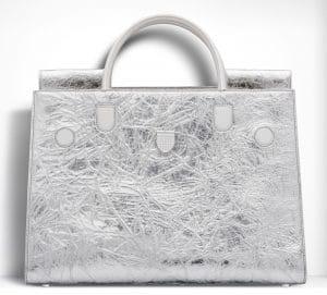 Dior Crinkled Metallic Diorever Large Bag