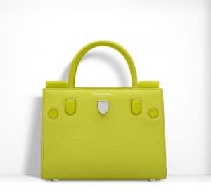 Dior Fluorescent Lemon Yellow Diorever Mini Bag