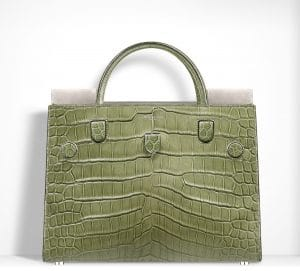 Dior Olive Green Saltwater Crocodile Diorever Bag