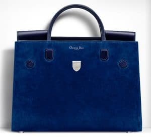Dior Pacific Blue Suede Diorever Large Bag