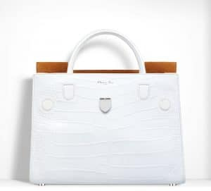 Dior White Alligator Diorever Bag