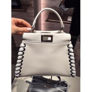 Fendi Beige Fashion Show Peekaboo Mini Bag