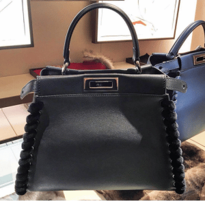 Fendi Black Fashion Show Peekaboo Mini Bag 2
