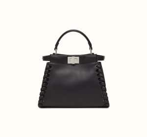 Fendi Black Fashion Show Peekaboo Mini Bag