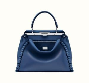 Fendi Blue Fashion Show Peekaboo Bag