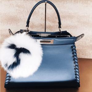 Fendi Blue Fashion Show Peekaboo Mini Bag 2