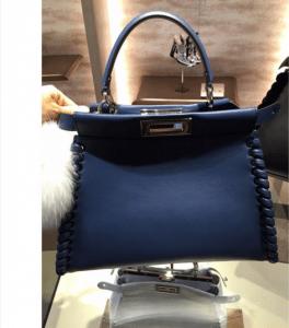 Fendi Blue Fashion Show Peekaboo Mini Bag