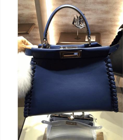 64e43b0debb7 ... promo code for fendi blue fashion show peekaboo mini bag 20953 167b0