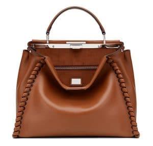 Fendi Cognac Fashion Show Peekaboo Bag