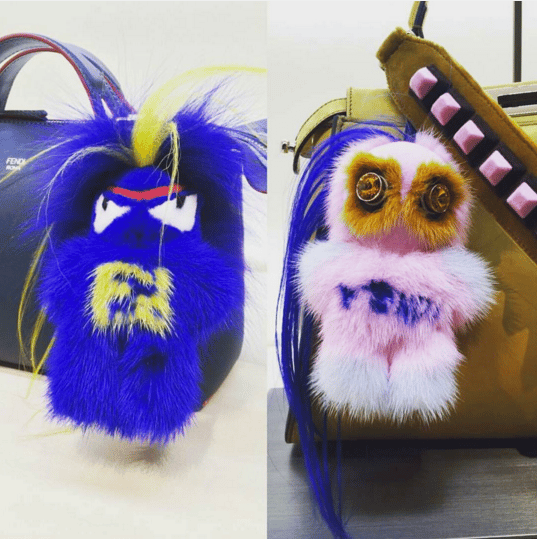 b65dad6f04 Fendi FendiRumi Bug-Kun and Piro-Chan Bag Charms 2. IG  xob1ondie