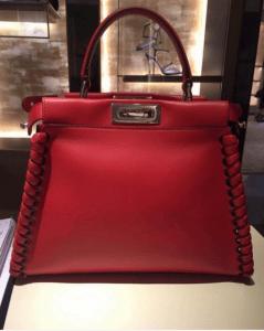 Fendi Red Fashion Show Peekaboo Bag 2