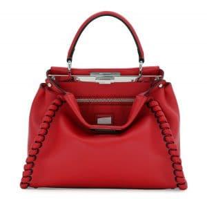 Fendi Red Fashion Show Peekaboo Bag
