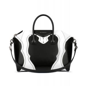 Givenchy Black/White Brogue Antigona Medium Bag