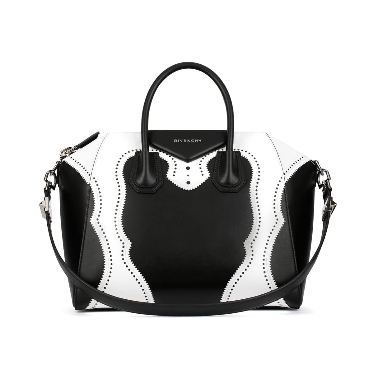 Givenchy Black White Brogue Antigona Medium Bag 6e0622fe2e6c4