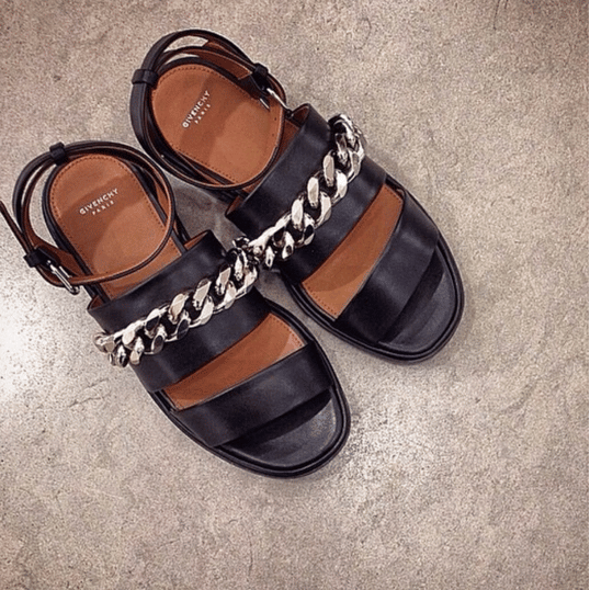 7ee934f7e37a Givenchy Curb Chain Leather Flatform Sandals 2. IG  personalshopperitaly