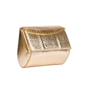 Givenchy Gold Pale Ayers Pandora Minaudiere Bag
