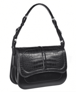 Hermes Black Alligator Harnais Bag