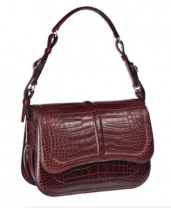 Hermes Burgundy Alligator Harnais Bag
