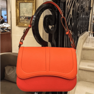 Hermes Orange Harnais Bag
