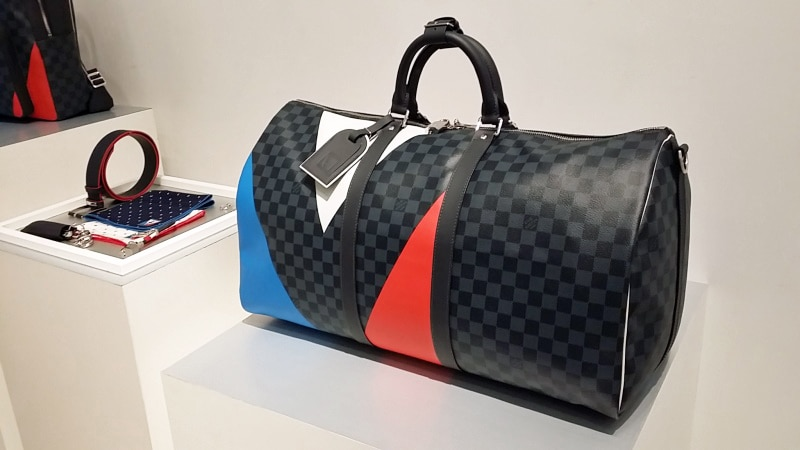 Louis Vuitton White Bag With Colors