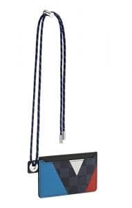 Louis Vuitton Damier Cobalt Regatta Neo Porte Cartes With Cord
