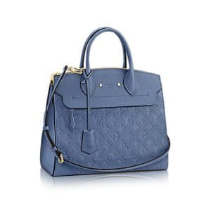 Louis Vuitton Denim Monogram Empreinte Pont Neuf MM Bag