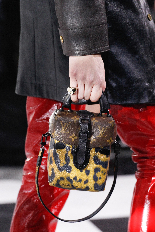 Monogram Leopard-print Clutch Bag, Black