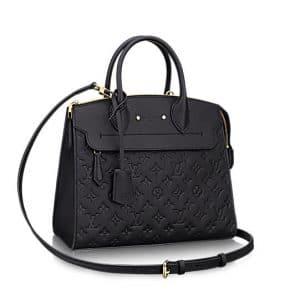 Louis Vuitton Noir Monogram Empreinte Pont Neuf MM Bag