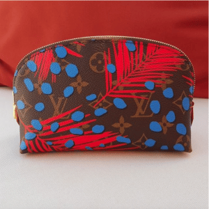Louis Vuitton Palm Poppy/Denim Monogram Jungle Cosmetic Pouch Bag