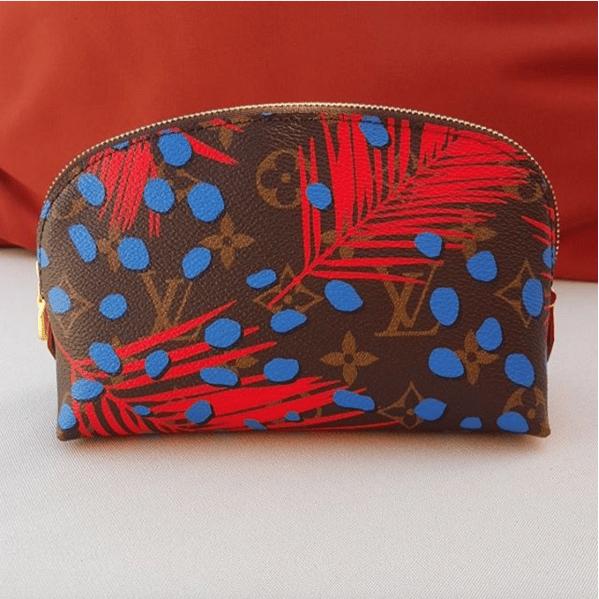 95b8cc8c4faf Louis Vuitton Palm Poppy Denim Monogram Jungle Cosmetic Pouch Bag. IG   lvaddict108