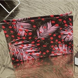 Louis Vuitton Palm Sugar Pin/Coquelicot Monogram Jungle Toiletry Pouch Bag