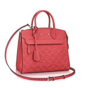 Louis Vuitton Poppy Monogram Empreinte Pont Neuf MM Bag