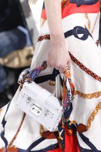 Louis Vuitton White Epi Petite Malle Bag - Fall 2016