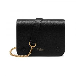 Mulberry Black Small Classic Grain Small Clifton Bag