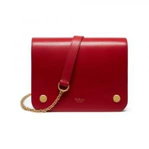 Mulberry Scarlet Crossboarded Calf Clifton Bag