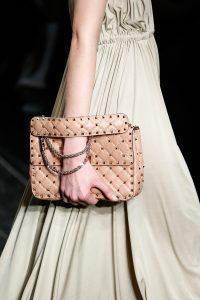 Valentino Beige Rockstud Flap Bag - Fall 2016