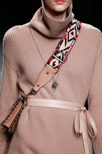 Valentino Beige Rockstud Flap Bag with Beaded Strap 2 - Fall 2016