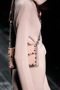 Valentino Beige Rockstud Flap Bag with Beaded Strap - Fall 2016