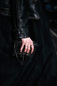 Valentino Black Patent Shoulder Bag - Fall 2016