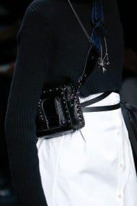 Valentino Black Rockstud Camera Bag 2 - Fall 2016