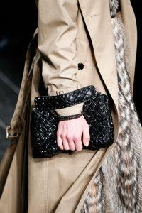 Valentino Black Rockstud Flap Bag - Fall 2016